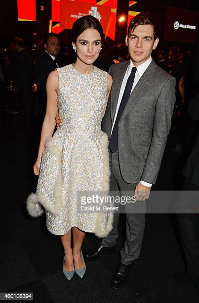 Keira Knightley and James Righton attend The Moet British Independent Film Awards 2014 at Old Billingsgate Market on December 7 2014 in London England