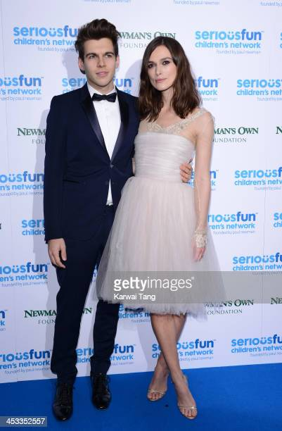 Keira Knightley and James Righton attend the SeriousFun London Gala 2013 at The Roundhouse on December 3 2013 in London EnglandThe Serious Fun...