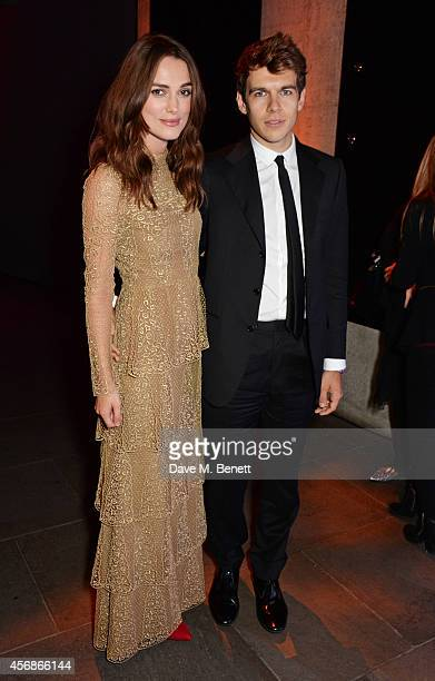 Keira Knightley and James Righton attends an after party following the Opening Night Gala Screening of The Imitation Game during the 58th London Film...