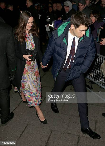 Keira Knightley and James Righton attends the Charles Finch CHANEL PreBAFTA party at Annabel's on February 7 2015 in London England