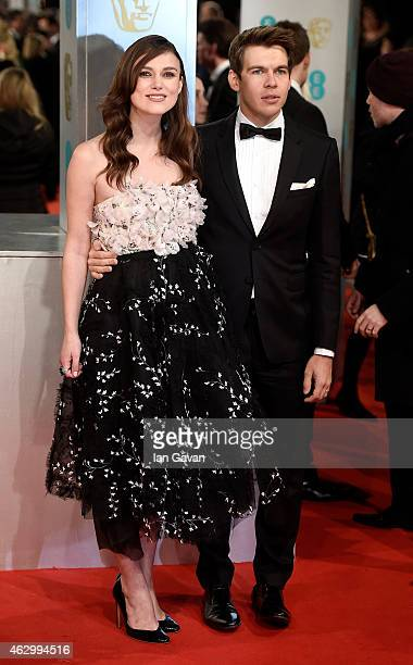 Keira Knightley and James Righton attends the EE British Academy Film Awards at The Royal Opera House on February 8 2015 in London England