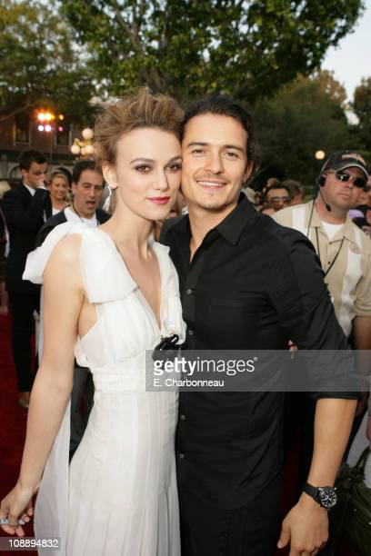 Keira Knightley and Orlando Bloom during World Premiere of Walt Disney Pictures' 'Pirates of the Caribbean Dead Man's Chest' at Disneyland in Anaheim...