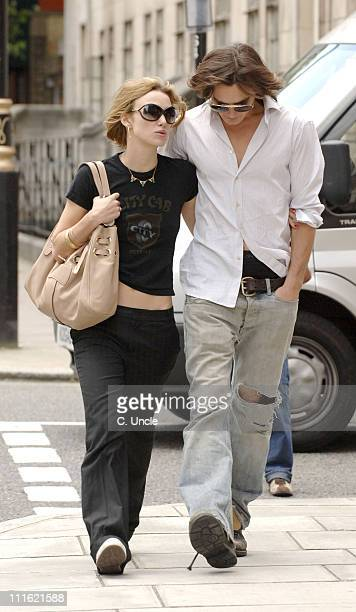 Keira Knightley and Rupert Friend during Keira Knightley Sighting In London May 31 2006 in London Great Britain