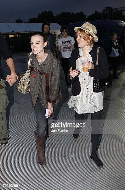 Keira Knightley and Sienna Miller backstage at the O2 Wireless Festival 2007