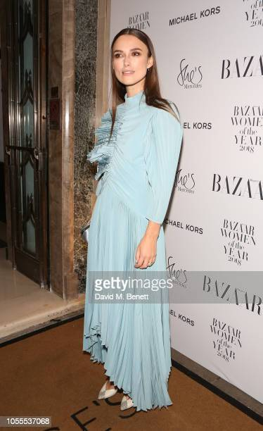Keira Knightley arrives at the 2018 Harper's Bazaar Women of the Year Awards in partnership with Michael Kors and MercedesBenz at Claridge's Hotel on...