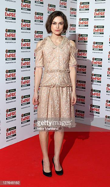Keira Knightley arrives at the Jameson Empire Awards at The Grosvenor House Hotel on March 27, 2011 in London, England.