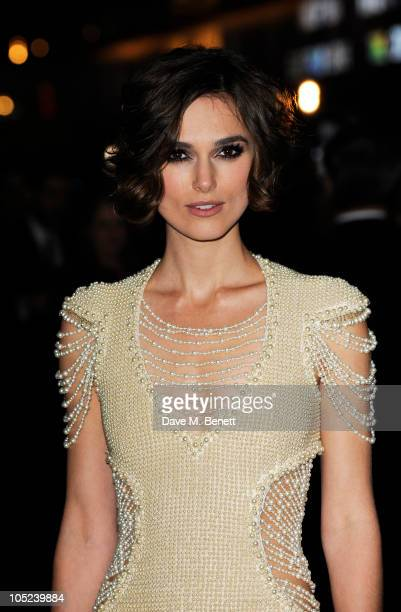 Keira Knightley arrives at the premiere of 'Never Let Me Go' during the 54th BFI London Film Festival at Vue West End on October 13 2010 in London...