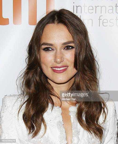 Keira Knightley arrives at the premiere of The Imitation Game held during the 2014 Toronto International Film Festival Day 6 held on September 9 2014...