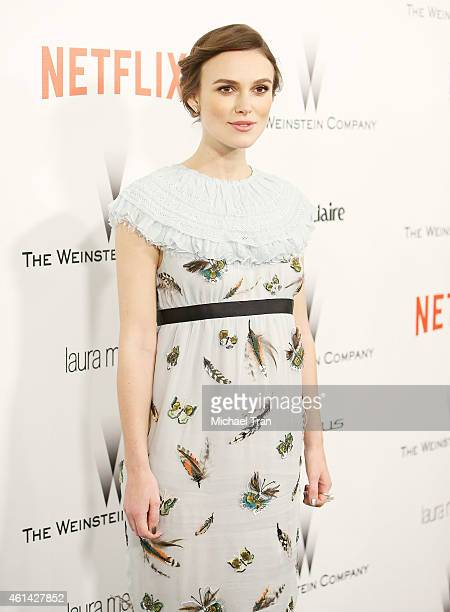 Keira Knightley arrives at The Weinstein Company and Netflix Golden Globes afterparty held on January 11 2015 in Beverly Hills California