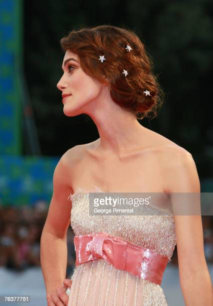 Keira Knightley arrives for the Opening Ceremony and the Atonement Premiere at the 64th Annual Venice Film Festival on August 29 2007 in Venice Italy