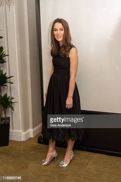 Keira Knightley at 'The Aftermath' Press Conference at Dorchester Hotel on February 18 2019 in London England