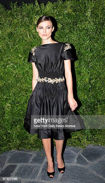 Keira Knightley at the Cinema Society with Chanel and Vogue after screening party held at the Cooper Square Hotel for the movie The Duchess