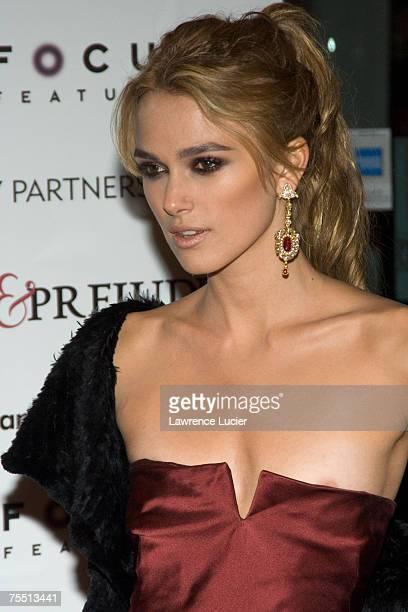 Keira Knightley at the Focus Features' Pride Prejudice New York City Premiere Arrivals at Loews Lincoln Square in New York City New York