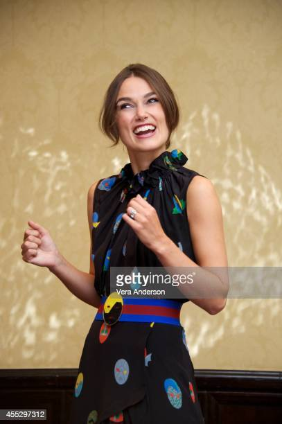 Keira Knightley at 'The Imitation Game' Press Conference at The Fairmont Royal York Hotel on September 10 2014 in Toronto Ontario