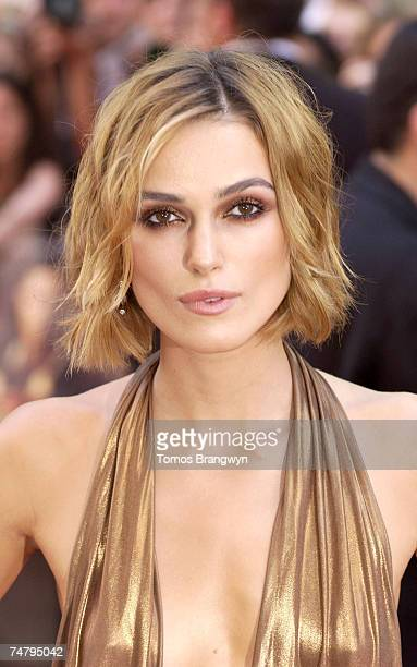 Keira Knightley at the Odeon Leicester Square in London United Kingdom