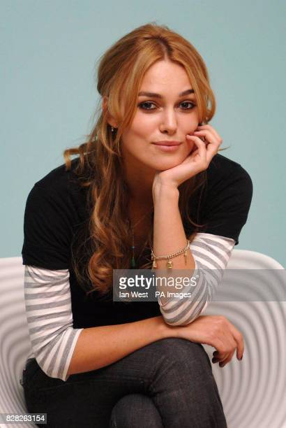 Keira Knightley at the SOHO Hotel central London after the news that she has been nominated for a Golden Globe for her role in the film Pride and...