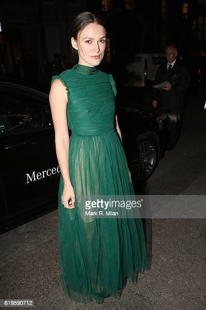 Keira Knightley attending the Harper's Bazaar Women of the Year Awards on October 31 2016 in London England