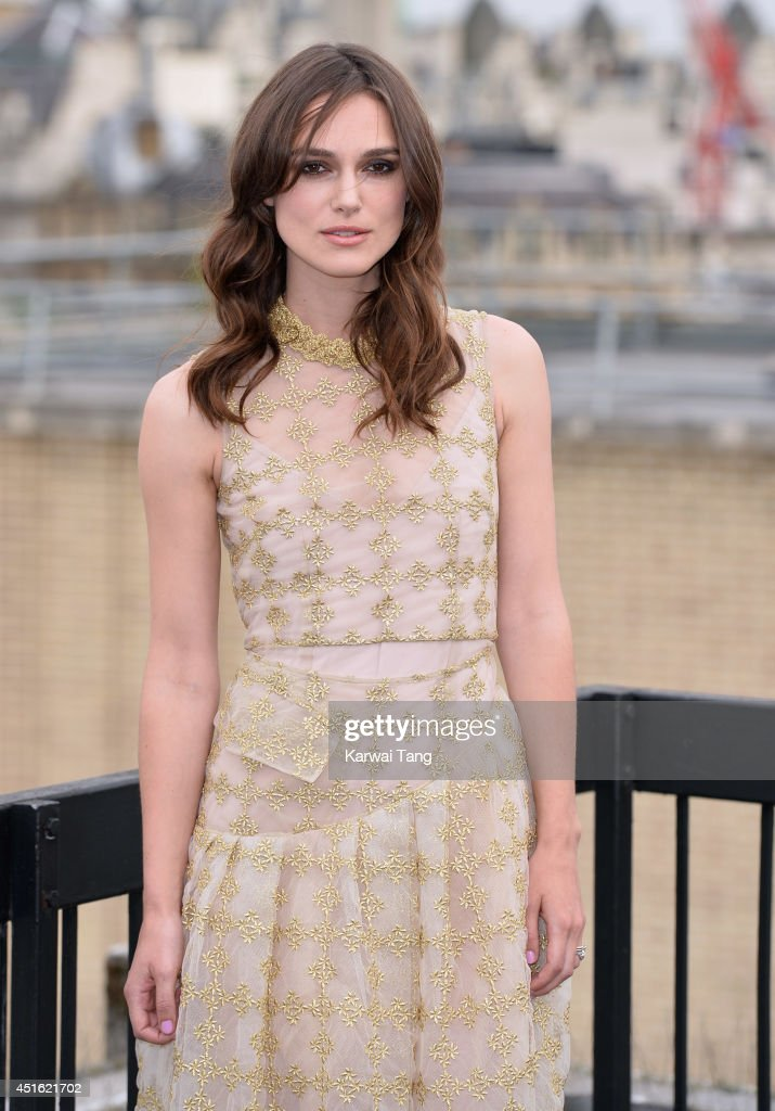 Keira Knightley attends a photocall for 'Begin Again' at Picturehouse Cinemas Ltd on July 2, 2014 in London, England.