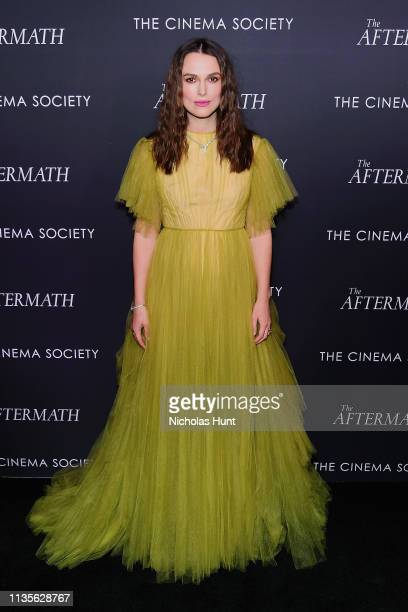 Keira Knightley attends a screening for The Aftermath in New York City at the Whitby Hotel on March 13 2019 in New York City