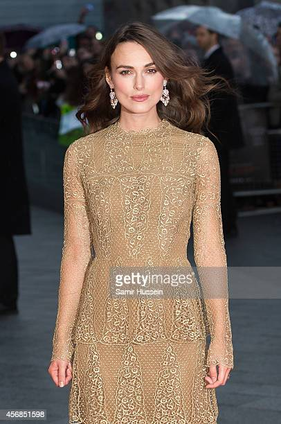 Keira Knightley attends a screening of The Imitation Game on the opening night gala of the 58th BFI London Film Festival at Odeon Leicester Square on...