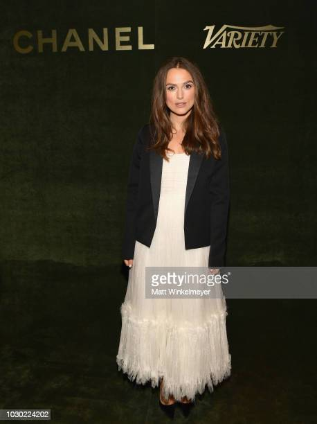 Keira Knightley attends an evening hosted by CHANEL Variety to honour Keira Knightley at the Inaugural Female Filmmaker Dinner Toronto International...
