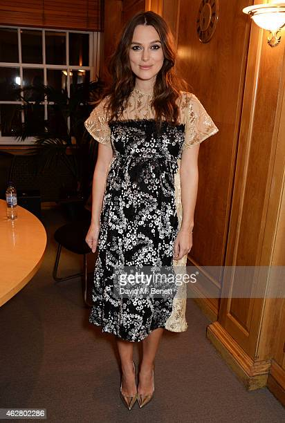 Keira Knightley attends an Oscar members screening of The Imitation Game at Twentieth Century Fox House on February 5 2015 in London England