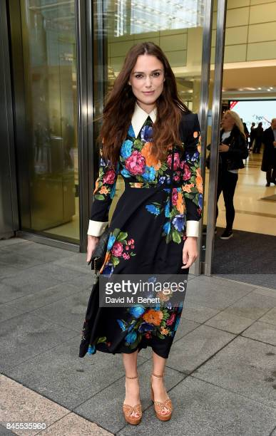 Keira Knightley attends BGC Charity Day on September 11 2017 in Canary Wharf London United Kingdom