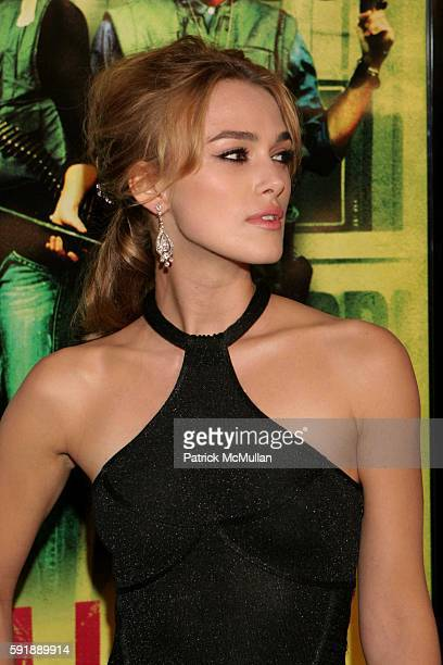 Keira Knightley attends Domino Los Angeles Premiere at Grauman's Chinese Theatre on October 11 2005 in Hollywood CA