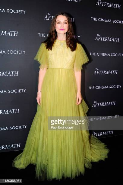 "Keira Knightley attends Fox Searchlight Pictures Hosts A Special Screening Of ""The Aftermath"" at The Whitby Hotel on March 13, 2019 in New York City."