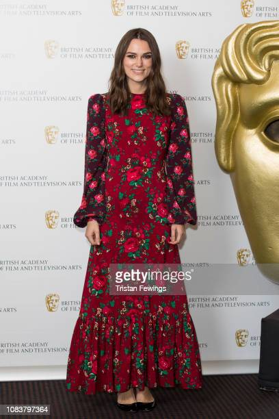 Keira Knightley attends her 'A Life In Pictures' photocall at BAFTA on December 17 2018 in London England