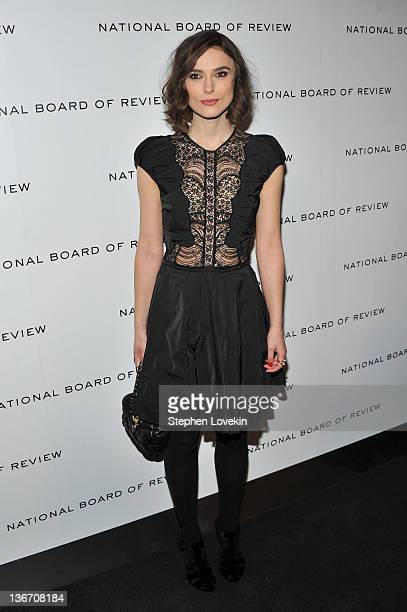 Keira Knightley attends the 2011 National Board of Review Awards gala at Cipriani 42nd Street on January 10 2012 in New York City