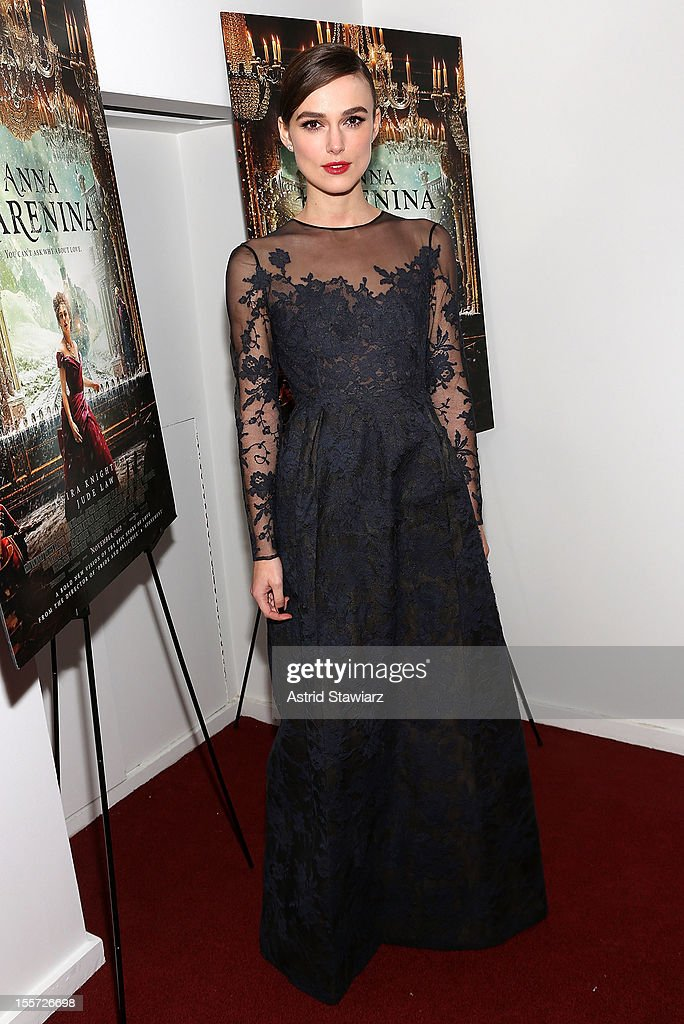 Keira Knightley attends the 'Anna Karenina' New York Special Screening at Florence Gould Hall on November 7, 2012 in New York City.