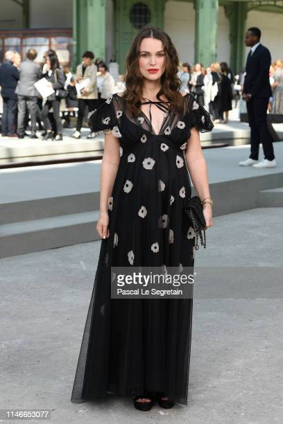 Keira Knightley attends the Chanel Cruise 2020 Collection Photocall In Le Grand Palais on May 03 2019 in Paris France