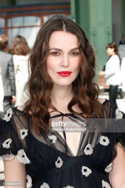 Keira Knightley attends the Chanel Cruise Collection 2020 : Front Row at Le Grand Palais on May 03, 2019 in Paris, France.