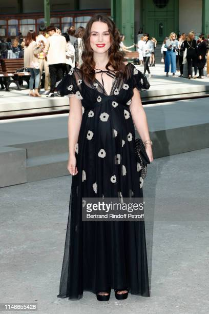 Keira Knightley attends the Chanel Cruise Collection 2020 Front Row at Le Grand Palais on May 03 2019 in Paris France