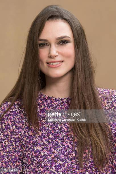 Keira Knightley attends the Chanel show as part of the Paris Fashion Week Womenswear Fall/Winter 2018/2019 on March 6 2018 in Paris France