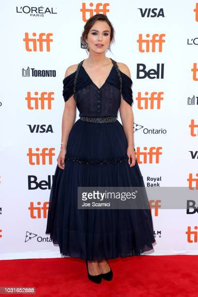 """Keira Knightley attends the """"Colette"""" premiere during 2018 Toronto International Film Festival at Princess of Wales Theatre on September 11, 2018 in..."""