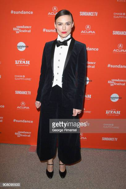 Keira Knightley attends the 'Colette' Premiere during the 2018 Sundance Film Festival at Eccles Center Theatre on January 20 2018 in Park City Utah