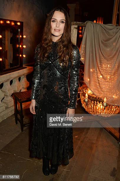 Keira Knightley attends the Erdem x Selfridges LFW Afterpary at the Old Selfridges Hotel on February 22 2016 in London England
