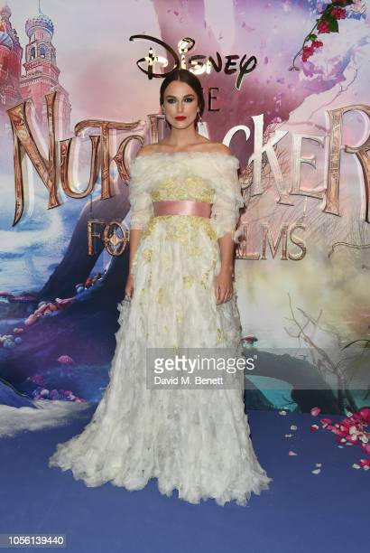 Keira Knightley attends the European Premiere of Disney's The Nutcracker And The Four Realms at Vue Westfield on November 1 2018 in London England