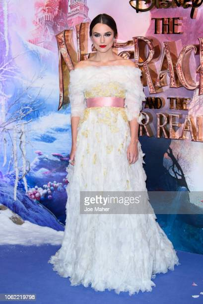 Keira Knightley attends the European Premiere of Disney's 'The Nutcracker' at Vue Westfield on November 01 2018 in London England