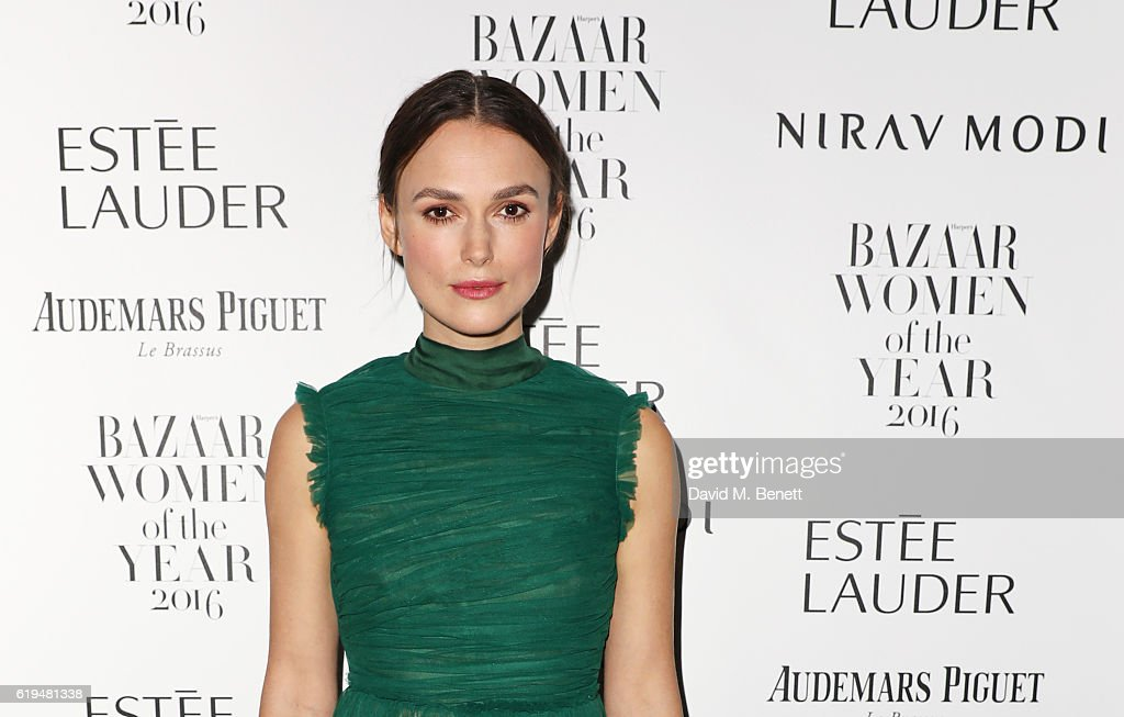 Keira Knightley attends the Harper's Bazaar Women of the Year Awards 2016 at Claridge's Hotel on October 31, 2016 in London, England.