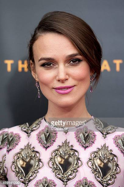 Keira Knightley attends The Imitation Game New York Premiere at the Ziegfeld Theater on November 17 2014 in New York City