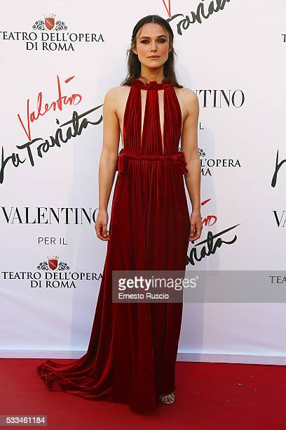 Keira Knightley attends the 'La Traviata' Premiere at Teatro Dell'Opera on May 22 2016 in Rome Italy