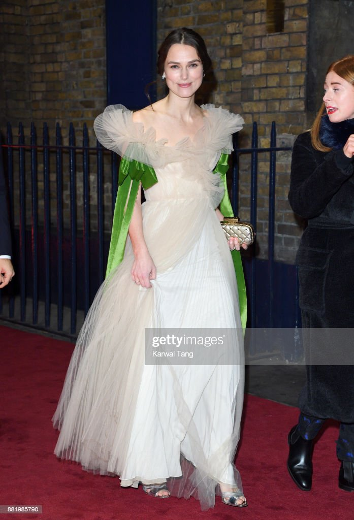 Keira Knightley attends the London Evening Standard Theatre Awards at Theatre Royal on December 3, 2017 in London, England.
