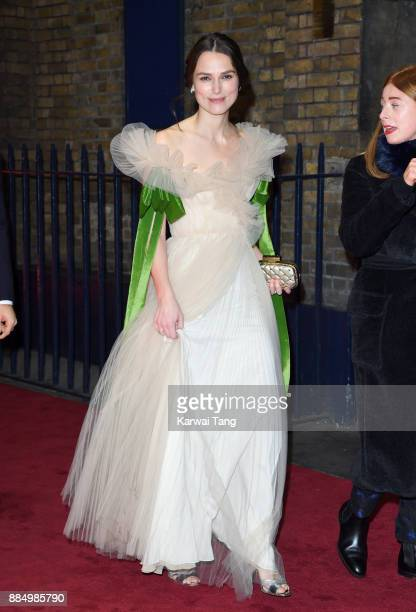 Keira Knightley attends the London Evening Standard Theatre Awards at Theatre Royal on December 3 2017 in London England