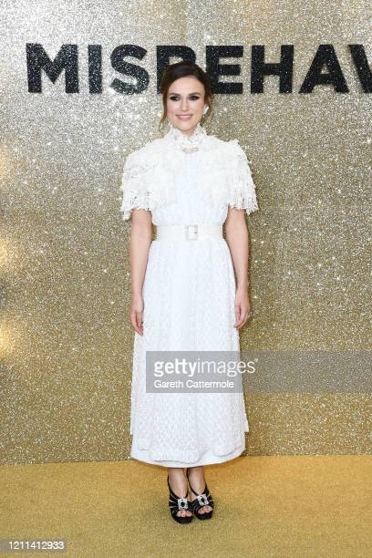 "Keira Knightley attends the ""Misbehaviour"" World Premiere at The Ham Yard Hotel on March 09, 2020 in London, England."