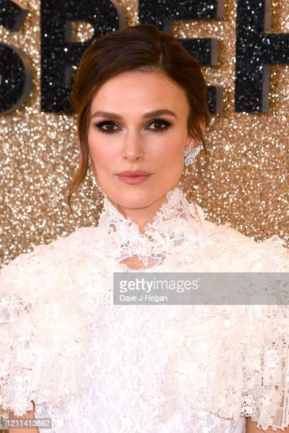 """Keira Knightley attends the """"Misbehaviour"""" World Premiere at The Ham Yard Hotel on March 09, 2020 in London, England."""