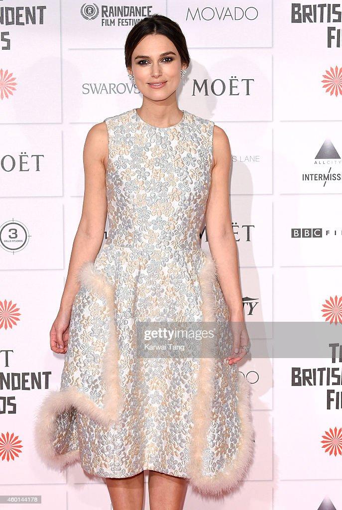 Keira Knightley attends the Moet British Independent Film Awards at Old Billingsgate Market on December 7, 2014 in London, England.