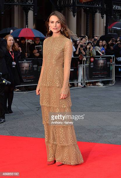 Keira Knightley attends the opening night gala screening of 'The Imitation Game' during the 58th BFI London Film Festival at Odeon Leicester Square...